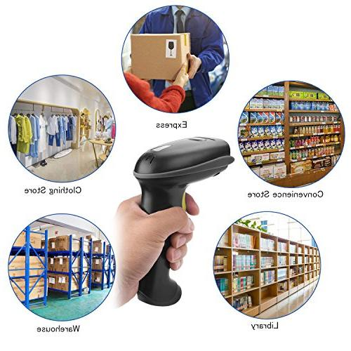 Wireless UPC Bar Code Scanner Reader Handheld Automatic Laser 1D Mac Windows 328 Long