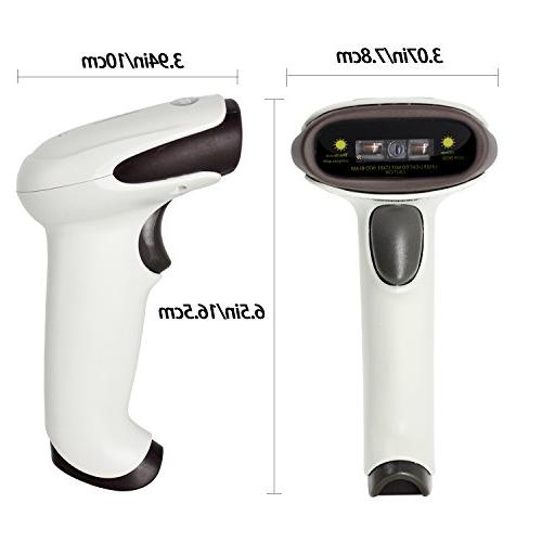 Wireless USB Handheld Automatic CCD Scanner 2.4GHz & USB2.0 Support Mac Windows 9