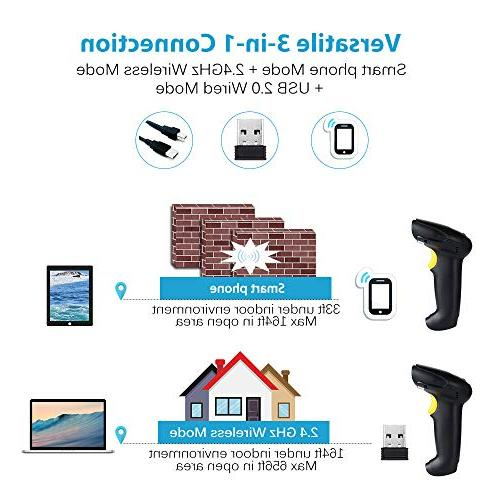 TaoHorse X8802 and 2.4Ghz Wireless Scanner Handheld Reader iPhone Android Phone Supports Mac OS Android