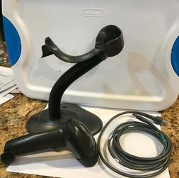 ls2208 barcode scanner with cable and stand