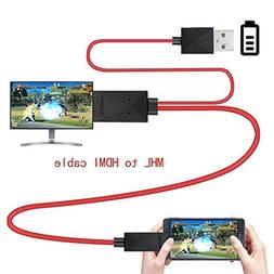 FOLICE Micro USB to HDMI Adapter Converter Cable 1080P Media