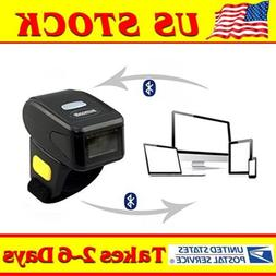 Mini Handheld Bluetooth Ring Finger Barcode Scanner Reader F