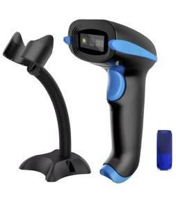 Nadamco QR Code Scanner Wireless 2D Barcode Scanner With Sta