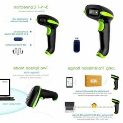 Nadamoo Wireless 2D Barcode Scanner, 3 In 1 Compatible With