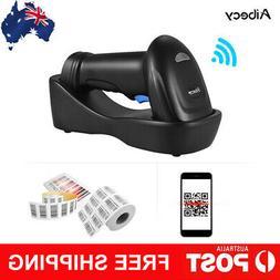 Aibecy Handheld Wireless 1D 2D QR PDF417 Barcode Scanner Bar