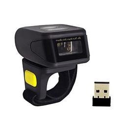 Alacrity Portable 1D Barcode Scanner,Wearable Ring Wireless