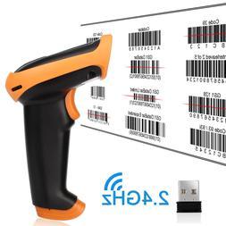 Portable 2.4G Wireless 1D Wifi Laser Barcode POS Reader Scan