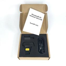Alacrity Portable Finger Mini 2D Bluetooth Barcode Scanner -