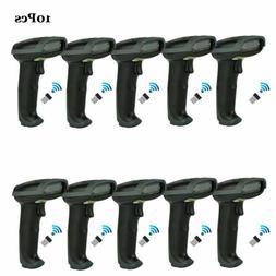 Portable High Speed 2.4GHz Laser Barcode Scanner Wireless Re