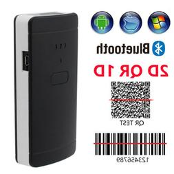 Portable Mini Bluetooth Wireless 1D 2D Barcode Scanner Scree