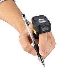 Portable Ring 1D 2D QR Barcode Scanner,Wearable Wireless Fin