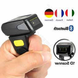 Portable Wearable Ring Barcode Scanner 1D Reader Mini Blueto