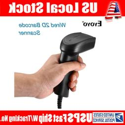 Eyoyo QR 2D Wired Barcode Scanner Bar Code Reader for Comput