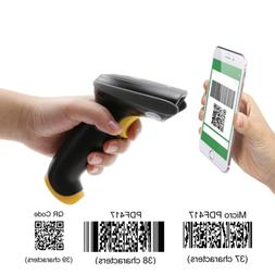 TEEMI QR Barcode Scanner Handheld Automatic USB Wired 1D 2D
