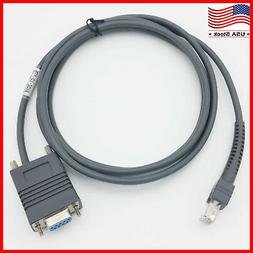 RS232 Serial Cable 7FT RJ45 to DB9 for Symbol Barcode Scanne