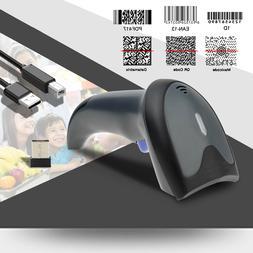 Upgraded Dual 2.4G Wireless+USB 1D 2D Barcode Scanner QR PDF