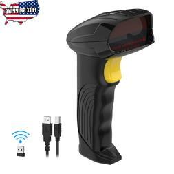 USB Wireless 2.4G Barcode Scanner 1D Handheld Laser Reader W