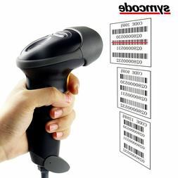 USB Barcode Scanner Symcode 1D Laser Wired USB Handheld Barc