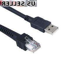 USB Cable 6 Feet for Symbol Barcode Scanner CBA-U01-S07ZAR