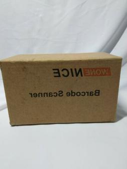 WoneNice USB Laser Barcode Scanner Reader Black - Open Box