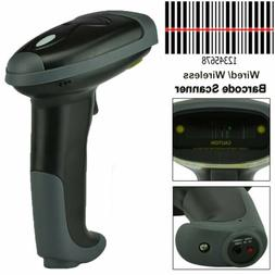 Wireless Bluetooth 2.4G Barcode Scanner Handheld USB Recharg