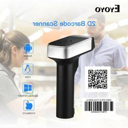 USB Wired & 2.4G Wireless 2D Barcode Scanner With USB Receiv
