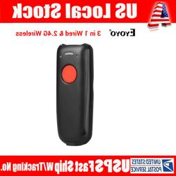 USB Wired Bluetooth 2.4GHz Wireless Barcode Scanner Two Uplo