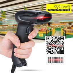 USB Wired Handheld 1D/2D/QR Barcode Image Scanner Reader for