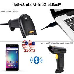 Wireless Automatic Laser Handheld Barcode Scanner USB Bar Co