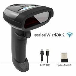 NETUM Wireless Barcode Scanner, 2 in 1 2.4G Wireless & USB W