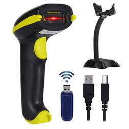 Esup Wireless Barcode Scanner 2-in-1 Wireless & USB 2.0 Wire