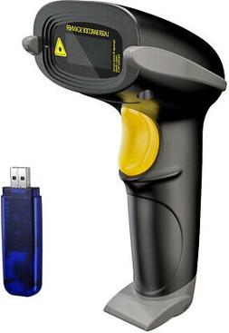 NADAMOO Wireless Barcode Scanner 328 Feet Transmission Dista