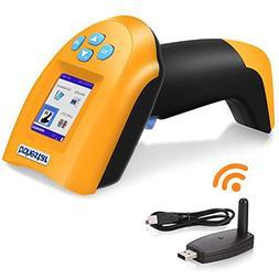 TroheStar 433Mhz Wireless Barcode Scanner, 1D USB Handheld B