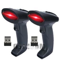 Wireless Barcode Scanner w/ Receiver 1D Cordless Bar Code Re