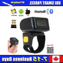 Wireless Bluetooth Portable Wearable Ring Barcode Scanner 1D