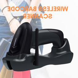 Wireless Cordless Laser Barcode Scanner Reader with USB Crad